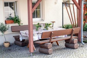 Hof Türke Moritzburg - Sitzgelegenheit im Freien